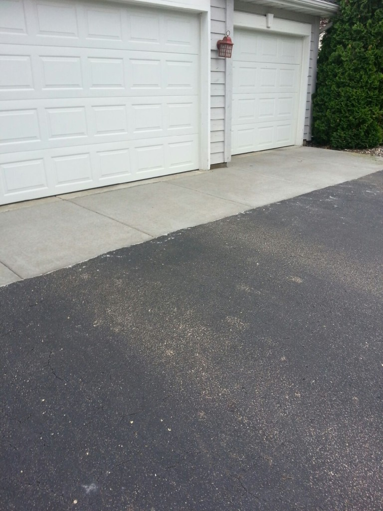Stamped Stained Concrete Driveway
