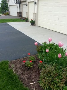Concrete section is called an apron, which is right outside your garage.